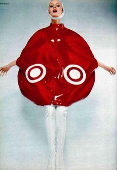 Bubble cape by Pierre Cardin, 1969.