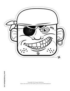 Pirate Crew Mask to Color Printable Mask, free to download and print
