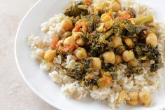 Recipe of the Day: Curried Chickpeas & Kale