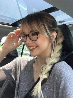 bangs + a Rapunzel side braid