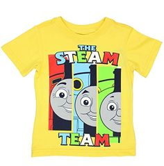 Thomas  Friends Short Sleeve Tee Toddler 5T Yellow Steam Team *** Check out the image by visiting the link.Note:It is affiliate link to Amazon.