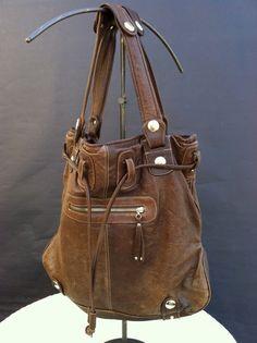Fabulous Gustto Large Leather Handbag by LaDolfina on Etsy, $150.00