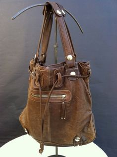 Fabulous Gustto Large Leather Handbag by LaDolfina on Etsy, $150.00