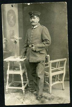 Old Postcard. Ww1. RP. German Officer. Moustache. K.Bethke.  Uebungsplatz in Collectables, Postcards, Military, World War I (1914-1918) | eBay