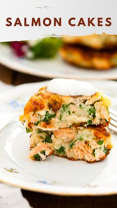 These salmon cakes made with leftover mashed potatoes and canned salmon are 'cheap and cheerful'. These salmon cakes made with leftover mashed potatoes and canned salmon are 'cheap and cheerful'. Canned Salmon Patties, Canned Salmon Recipes, Salmon Patties Recipe, Fish Recipes, Seafood Recipes, Cooking Recipes, Salmon Dishes, Fish Dishes, Seafood Dishes