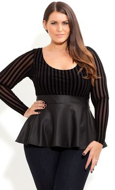 Plus Size Paris Date Top - City Chic - City Chic