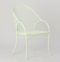 Green Yellow Jardiniere Chair, Pastel Spring Colored Outdoor Cafe Chairs, Gardenista