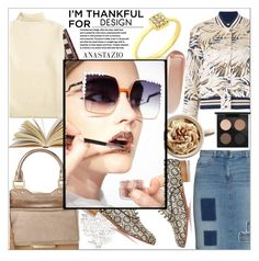 """""""Anastazio-I'm Thankful for..."""" by anastazio-kotsopoulos ❤ liked on Polyvore featuring Christian Louboutin, Frapp, Off-White, Jimmy Choo, NARS Cosmetics, Fendi and MAC Cosmetics"""