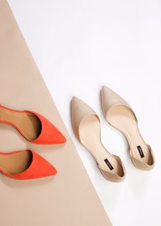 Chaussures plates pointues - Femme | MANGO