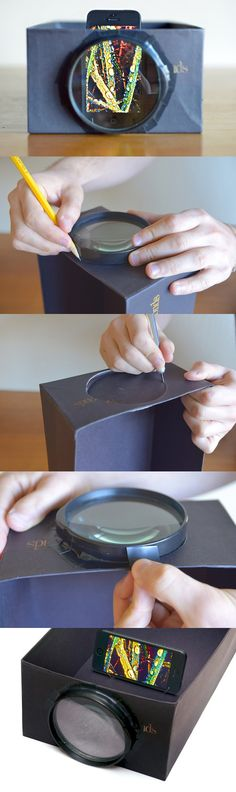 Learn how to turn your phone into a DIY photo projector for just $1!