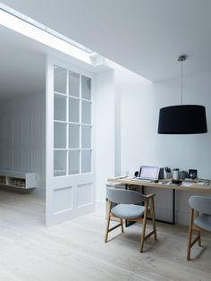 Workspace. Fulham House by Daniel Lee. #minimal #minimalism #minimalist