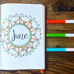 ello June! I can't believe it's halfway through the year already This intro page was inspired by @myyellowjournal_'s April intro page