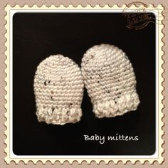 Crochet Baby Mittens Free Pattern: Crochet Baby Mittens - Recently a friend of mine asked me to create two pairs of crochet baby mitts to match two baby booties I'd already made her, turning them into a complete set. Not difficult, right? Crochet Baby Mittens, Crochet Mittens Free Pattern, Crochet Baby Blanket Beginner, Newborn Crochet Patterns, Crochet Dishcloths, Crochet Baby Clothes, Crocheting Patterns, Baby Patterns, Loom Knitting