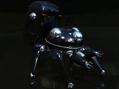 Ghost In The Shell - Tachikoma Unit. In black!!!! <3