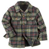 Not quite a jacket, but heavier than a shirt, this warm fleece-lined flannel is that perfectly warm in-between layer he'll want to wear all season long.<br>