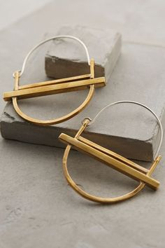 Luna Hinged Hoops - anthropologie.com