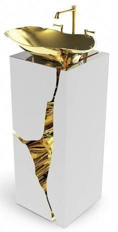 Bathrooms of the utmost luxury with Maison Valentina's creation. Tap the link now to see where the world's leading interior designers purchase their beautifully crafted, hand picked kitchen, bath and bar and prep faucets to outfit their unique design Modern Luxury Bathroom, Bathroom Design Luxury, Luxury Bathrooms, Luxury Bathtub, Minimalist Bathroom, Luxury Homes Interior, Home Interior Design, Sala Grande, Bad Styling