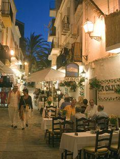 La Olivia fab restaurant in Ibiza old town. Location: Carrer laSanta Creu 2