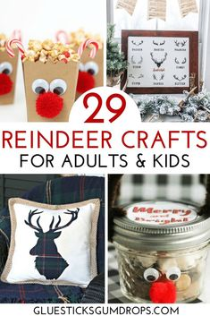 These adorable reindeer crafts are perfect for the holidays! Find a fun reindeer-themed gift, or make a reindeer craft with the kids on a cold, snowy day. Reindeer Handprint, Reindeer Craft, All Things Christmas, Christmas Diy, Christmas Decorations, Christmas Recipes, Crafts To Make, Crafts For Kids, Diy Crafts