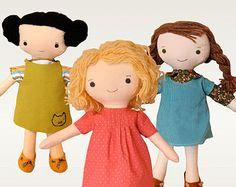 Tiny Baby Doll PDF Sewing Pattern by NimblePhish on Etsy