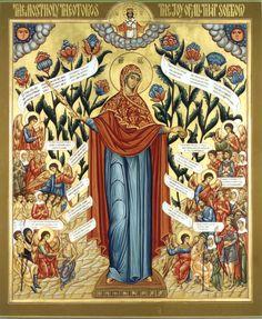 "Theotokos ""Joy of All Who Sorrow"" + + + Κύριε Ἰησοῦ Χριστέ, Υἱὲ τοῦ Θεοῦ, ἐλέησόν με  + + + The Eastern Orthodox Facebook: https://www.facebook.com/TheEasternOrthodox Pinterest The Eastern Orthodox: http://www.pinterest.com/easternorthodox/ Pinterest The Eastern Orthodox Saints: http://www.pinterest.com/easternorthodo2/"