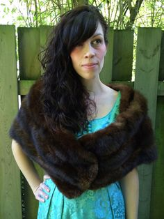 1950s Old Hollywood Mink Fur Stole// Beautiful vintage Fur Wrap// Mad Men Fur Wrap by TheFrenchSeventyFive
