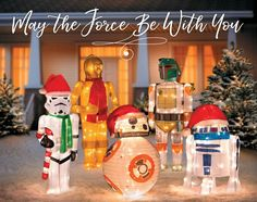 The Force will be with you when you add these popular Star Wars characters to your Christmas display. Star Wars Christmas, Christmas 2016, Christmas Lights, Christmas Ornaments, Christmas Activities For Kids, Christmas Party Games, Outdoor Christmas Decorations, Handmade Decorations, Light Decorations