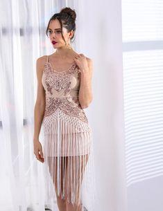 d87604de7f Next Elegant fringe sequins detail mini dress  partydressesclubwear Special  Occasion Dresses