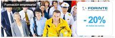 Formación empresarial con Forinte - 20% de descuento en todos los cursos