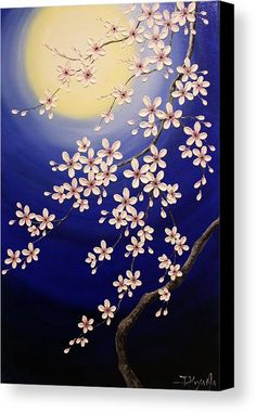 Cherry Blossoms Canvas Print by Tomoko Koyama. All canvas prints are professionally printed, assembled, and shipped within 3 - 4 business days and delivered ready-to-hang on your wall. Choose from multiple print sizes, border colors, and canvas materials. Multiple Canvas Paintings, Texture Painting On Canvas, Acrylic Painting Flowers, Simple Acrylic Paintings, Acrylic Painting Canvas, Canvas Artwork, Abstract Canvas, Canvas Prints, Cherry Blossom Painting