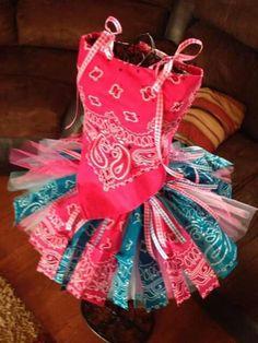 Adorable little girls bandana tutu dress.