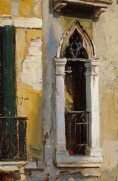 Florence fenêtre Huile 12x8 pouces $ 1600