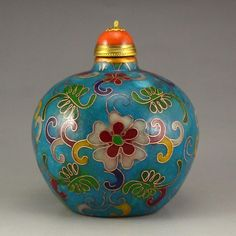 Chinese Gilt Gold Bronze Cloisonne Snuff Bottle CHINESE Porcelain , Art , Jade , Glass,  Wood and Antiques : More At FOSTERGINGER @ Pinterest