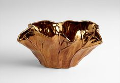 "Cyan Design unique decorative objects and accessories for vibrant interior design. Payton Bowl, 14"" Copper"