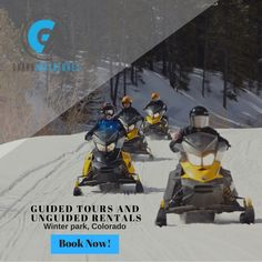 Come join us for a snowmobile tours and witness the beauty of the aspens from up top!   Visit : https://www.grandadventures.com/snowmobiling/  #daytripsfromdenver #snowmobilingcolorado #winteractivities #snowmobiletourscolorado #snowmobilerentalscolorado