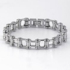 cool Stainless Steel Bicycle Chain Bracelet