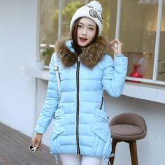31.97$  Buy here - http://ai29c.worlditems.win/all/product.php?id=32747787679 - Plus Size M-3XL Winter Down Cotton Jackets Women Fashion Artificial Fur Collar Parka Padded Slim Hooded Coat Women Coats Snowear