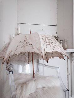 Beautiful cutwork parasol