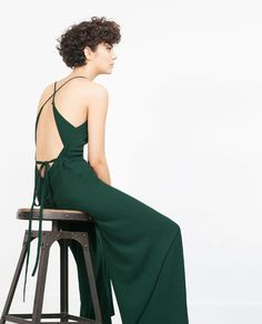 Image 5 of HALTER NECK JUMPSUIT WITH BACK STRAP from Zara