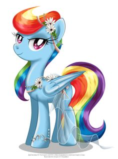 May Festival Pony - Rainbow Dash by selinmarsou.deviantart.com on @deviantART
