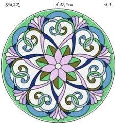 Эскиз для росписи, Круг диаметр-47,5см, SMAR-st-3