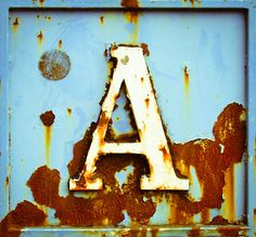 Rusty sign - Hyde UK.