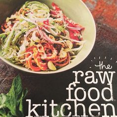 I love cookbooks and I bought this one from @therawfoodkitchen  I've never had raw sweet potato before but with a spiralizer and a tahini dressing I found a new favourite meal. -------------- The Raw Food Kitchen Book by Amanda Brocket