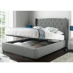 Sleep Sanctuary // Richmond Upholstered Winged Ottoman Storage Bed - $489.00