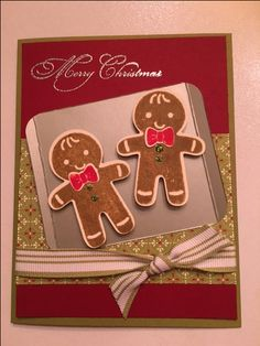 Stampin Up! Cookie Cutter Christmas stamp set and punch. Saw a similar card on…