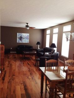 "Brazilian Koa Solid Hardwood: ""After a long wait, we replaced the carpeting in our family room, kitchen, hallway and office. What a difference this floor makes and it's absolutely beautiful. You won't be disappointed."""