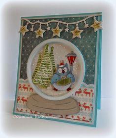 Jolanda's Crea-Blogg - lovely idea for a snow globe card