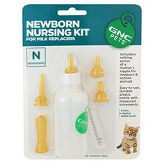 Gnc cats Newborn Kitten Nursing Kit ** Quickly view this special cat product, click the image : Cat Health and Supplies
