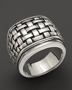 Scott Kay Sterling Silver Basketweave Ring