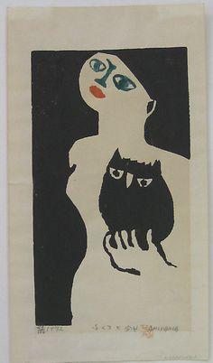 Owl and Girl by Iwao Akiyama